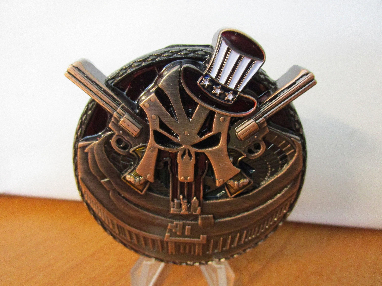 Nypd Yankee Stadium Punisher Medal Of Valor Serialized Etsy In 2020 Yankee Stadium Yankees Challenge Coins