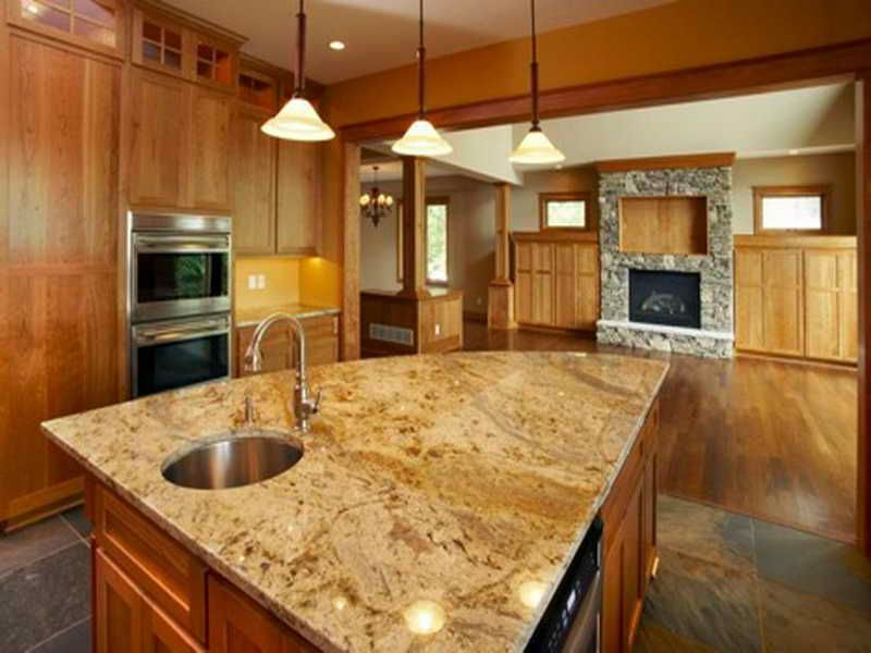 White Spring Granite  Exactly What Iu0027m Picturing With Dark Slate Floors And  Maple Cabinetry