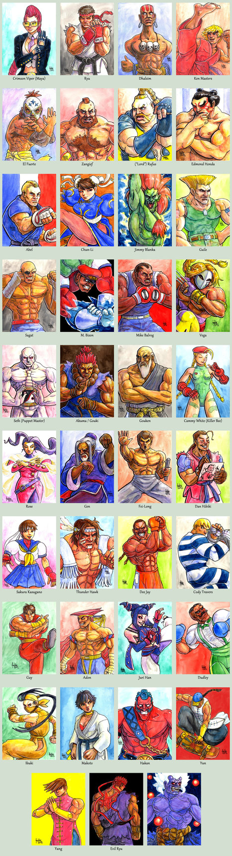 Sketchcard Street Fighter 4 Collection By Fedde On Deviantart Street Fighter Characters Street Fighter Art Ryu Street Fighter