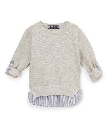 Another great find on #zulily! Gray Crew Neck Sweater - Infant, Kids & Tween #zulilyfinds