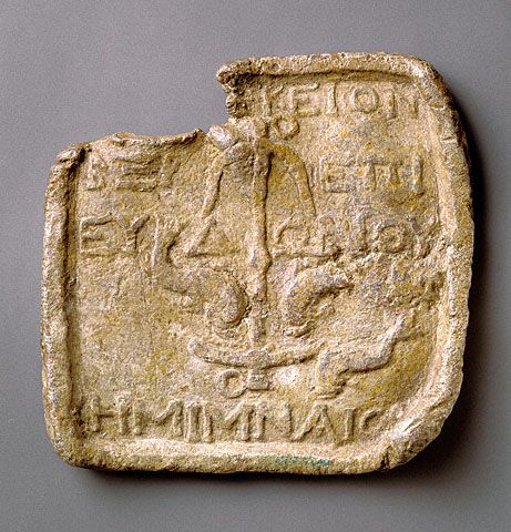 Model For The Future Christian Sect Anchor And Dolphins Greek Seleucia Pieria In Present Day Turkey 150 Bce Le Getty Museum Ancient Artifacts Greek Art