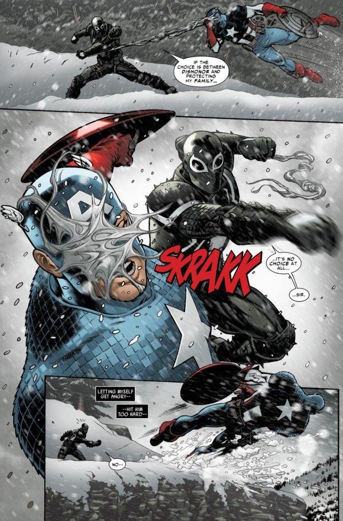 Venom vs. Captain America in Venom #10