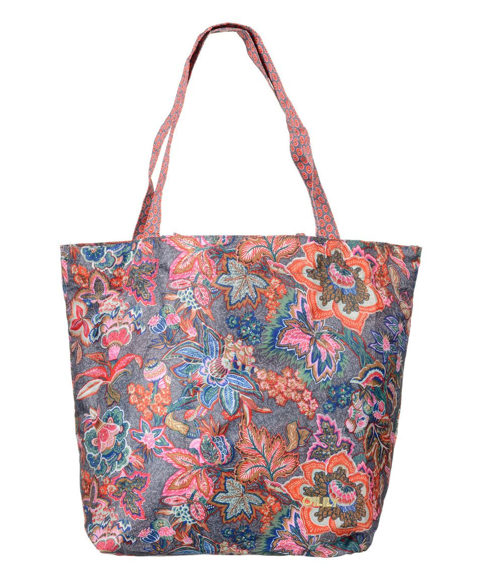 110eb02a3a3611 Another great find on #zulily! Dove Jatin Flowers Folding Shopper by Oilily  #zulilyfinds