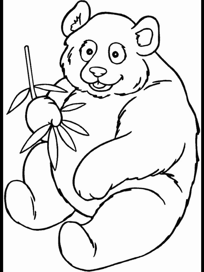 Great Printable Panda Coloring Pages