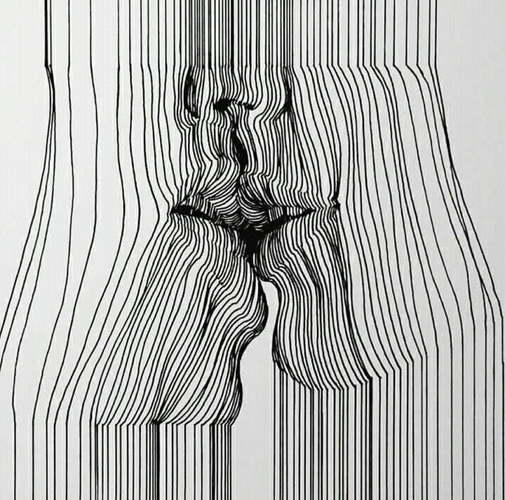 Lineas Rostros De Arte Arte Lineas Dibujos Abstractos