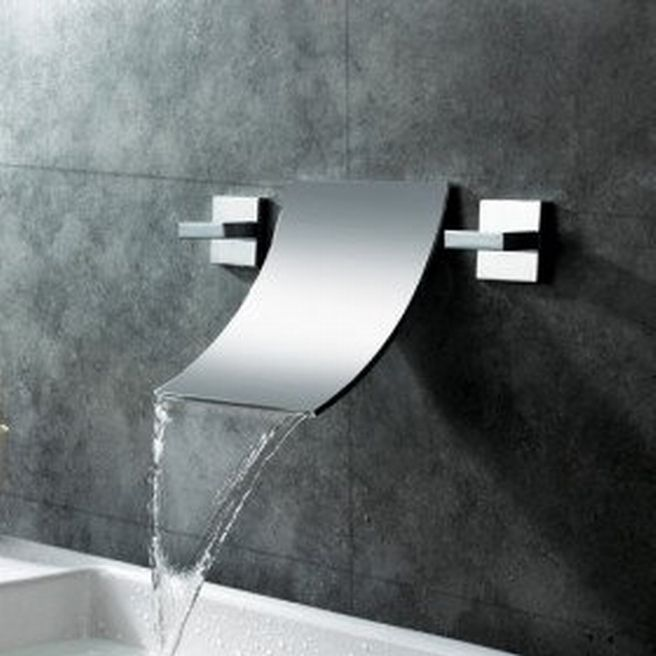 Waterfall Modern Bathroom Sink Faucets Interior Design   GiesenDesign