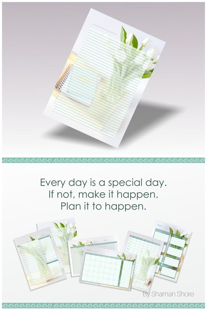 Lined Diary Pages A4 Color Flowers, Lined Diary Paper Printable ...
