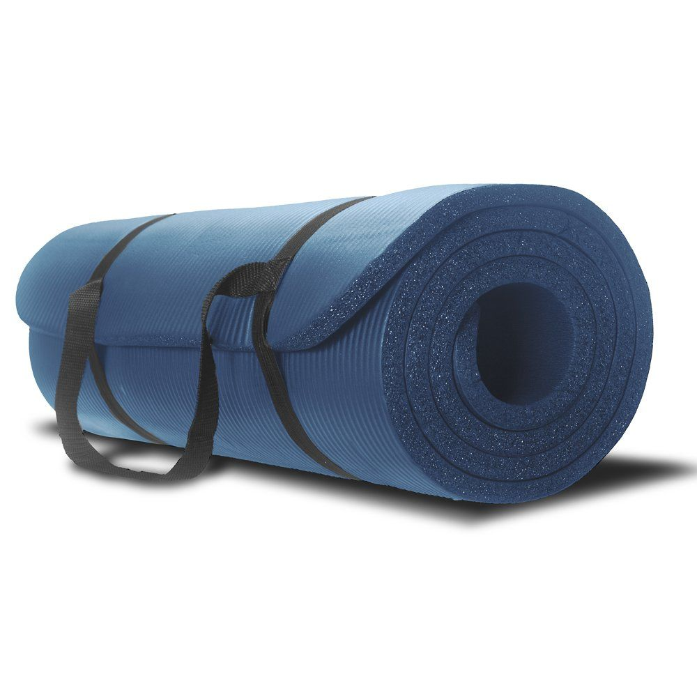 Amazon Com Monster Fitness Premium Exercise Mat Extra Thick Double Sided Carrying Strap Great For Yoga Yoga Mats Best Thick Exercise Mat Mat Exercises