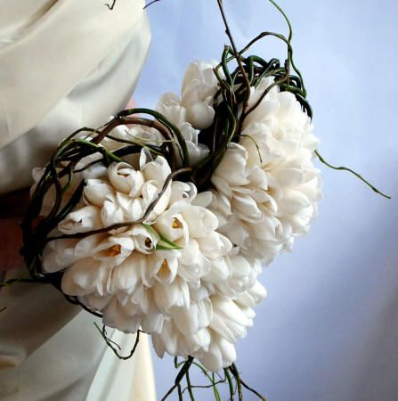 Okura Tulips And Salix 2 Jane Packer Heart Bridal Bouquet