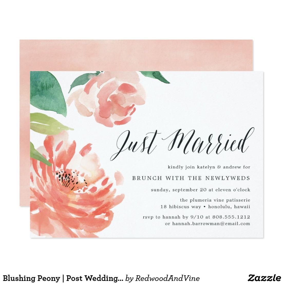Blushing Peony   Post Wedding Brunch Invitation   Pinterest   Brunch ...