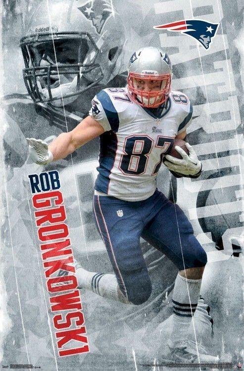 Rob Gronkowski Poster Stiff Arm 22x34 Nfl New England Patriots Football Affiliate N New England Patriots Football Nfl New England Patriots Patriots Football