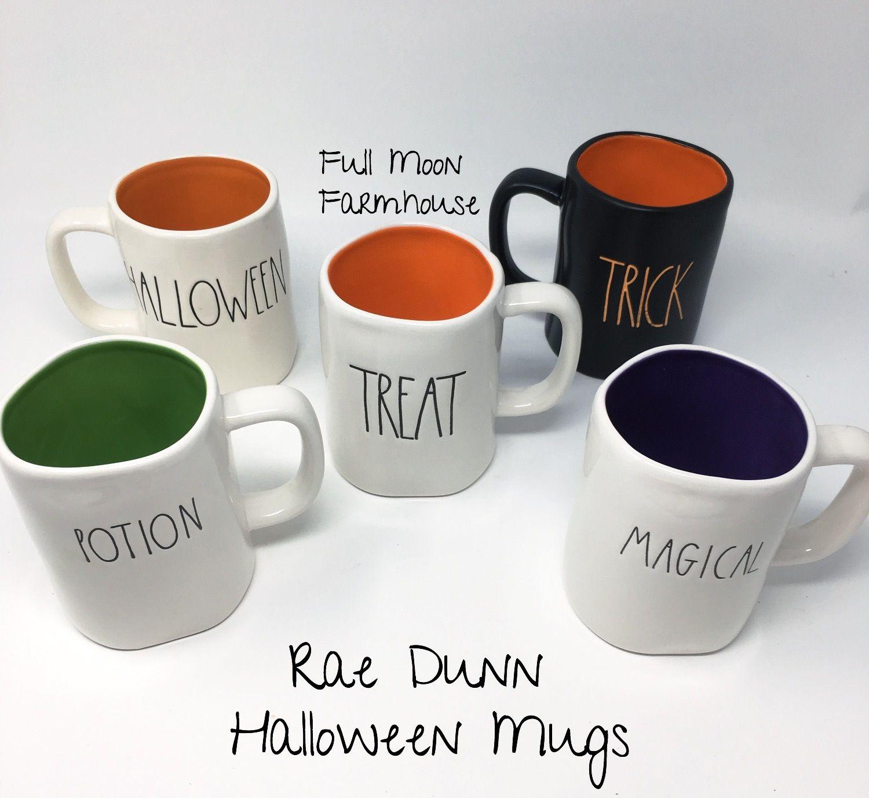 all rae dunn halloween mugs   rae dunn for sale in 2018   pinterest