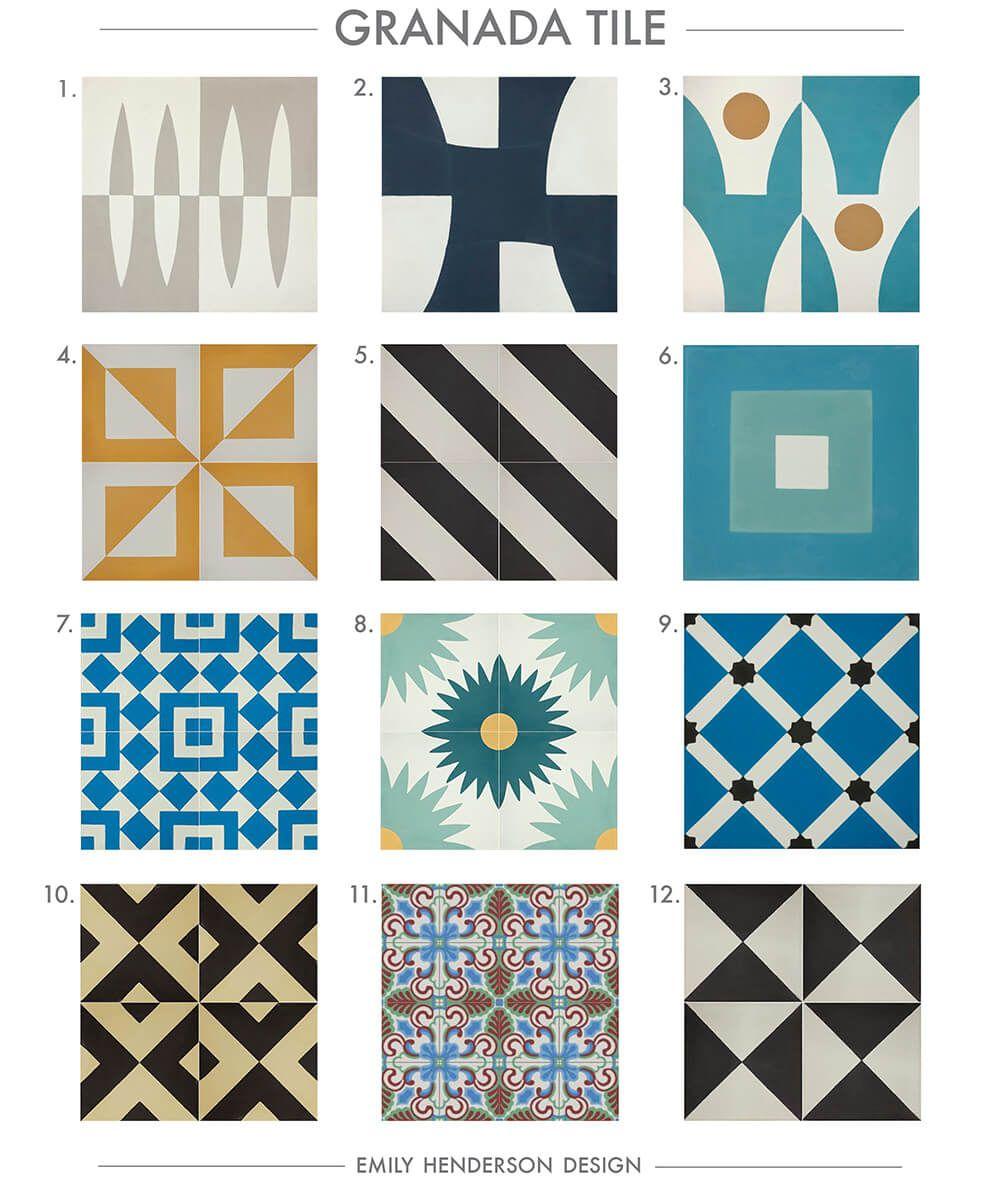 Patterned Tiles For Kitchen Cement Tile Roundup Granada Tile Patterned Tiles Emily Henderson