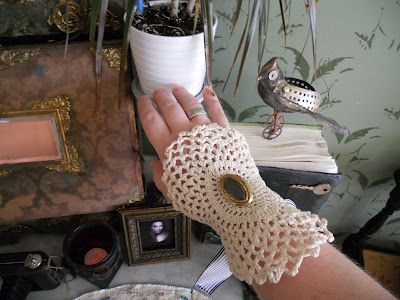 Cuff made out of a doily http://blog.muppin.com