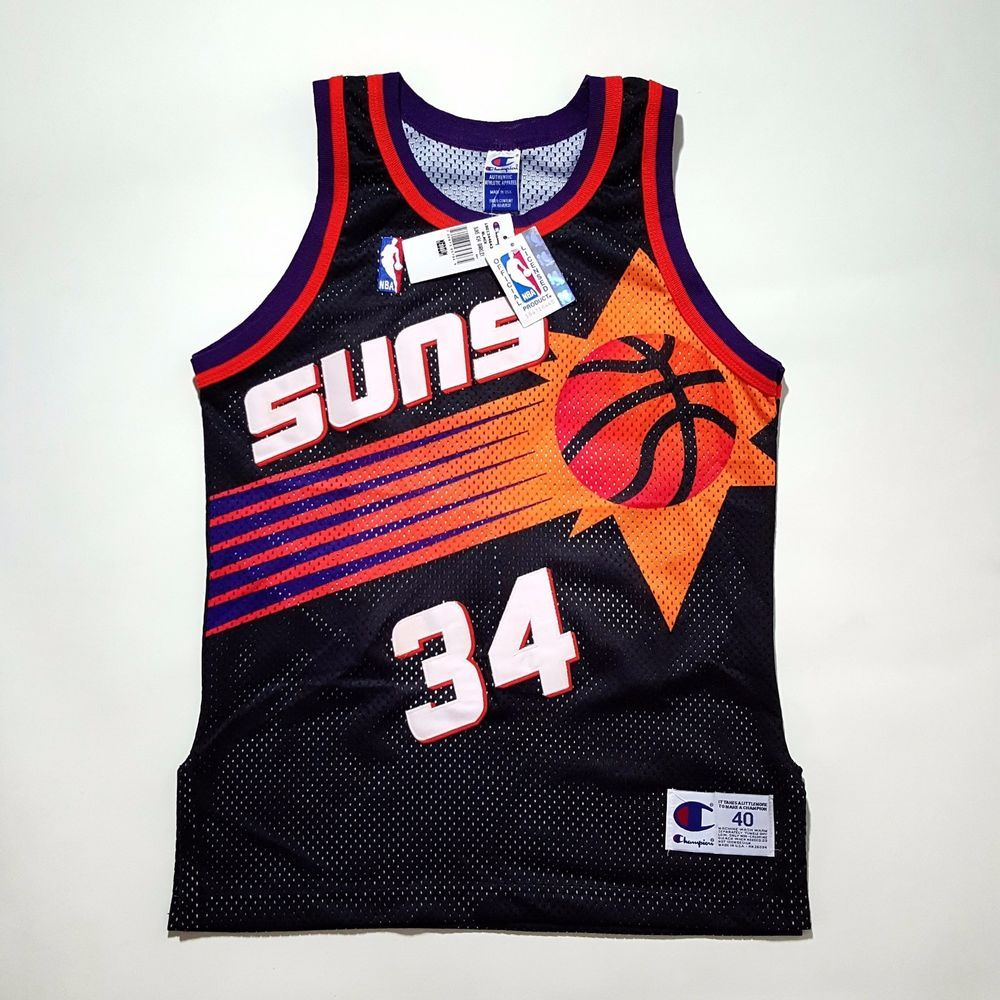 fca5d789452 100 Authentic Charles Barkley Champion Suns NBA Jersey Size 40 M | eBay