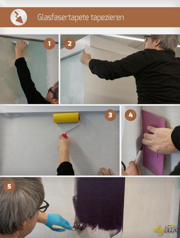 Tapezieren Anleitung glasfasertapete tapezieren und streichen tapezieren wände und lesen