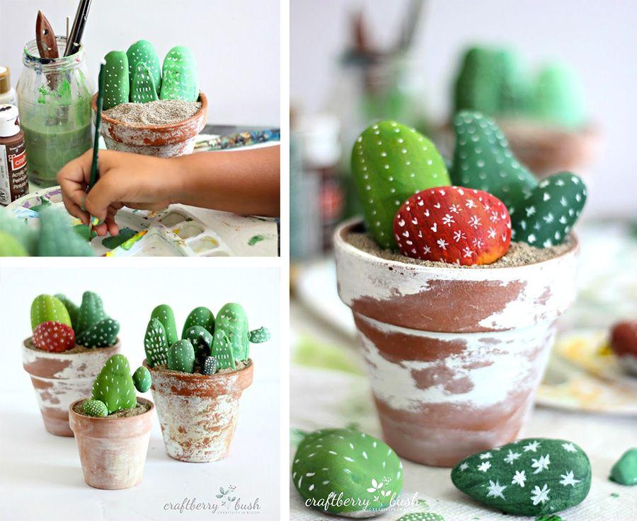 Tante idee creative per decorare con i sassi e creare for Decorare con i sassi
