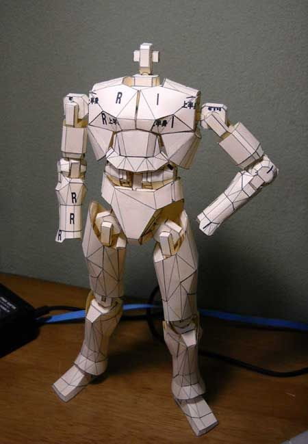 Papercraft Action Figure | Cool Stuff | Paper Crafts ...