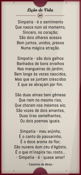 Casimiro De Abreu Simpatia Poesia E Prosa Quotes E Little Things