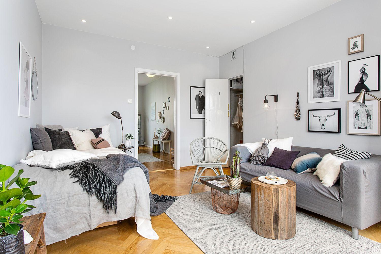 les petites surfaces du jour un studio entre industriel et recup bed wohnen auf engstem. Black Bedroom Furniture Sets. Home Design Ideas