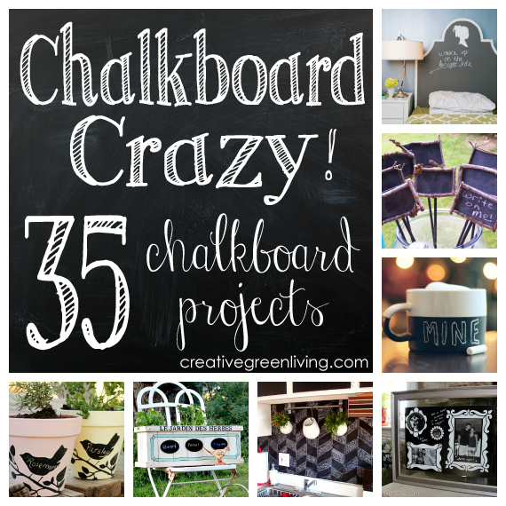 Chalkboard Crazy 35 Diy Chalkboard Projects You Ll Love Chalkboard Crafts Chalkboard Projects Diy Chalkboard