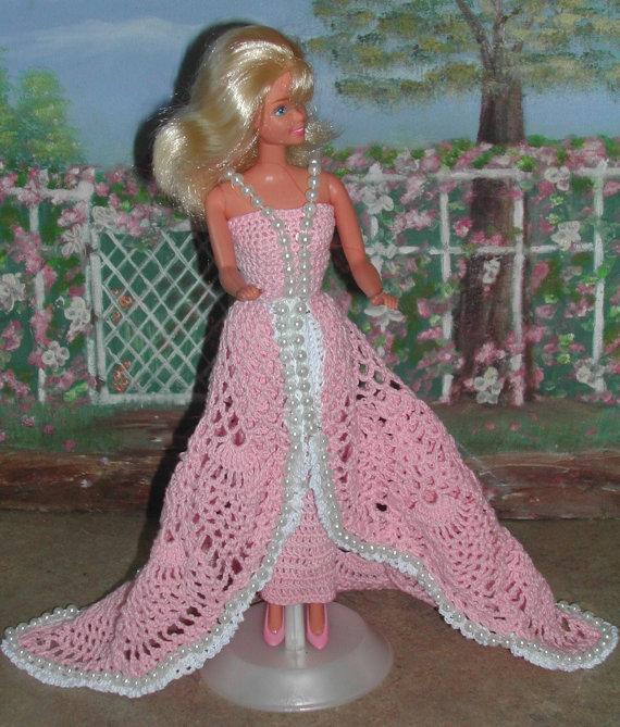 Crochet Fashion Doll Barbie Pattern- #151 PINK PINEAPPLES   Barbie ...