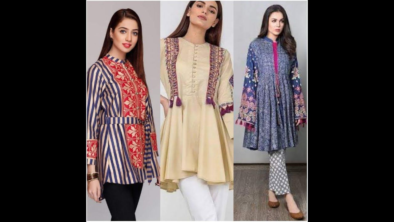 Latest New Casual Frocks Shirt Dress Designs 2019 Summer Dress Designs Casual Frocks Designer Summer Dresses Designer Dresses