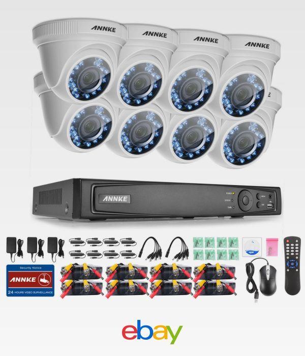 Details about ANNKE 8CH 3MP HD 5in1 DVR 8pcs 2MP 3D DE-Noise