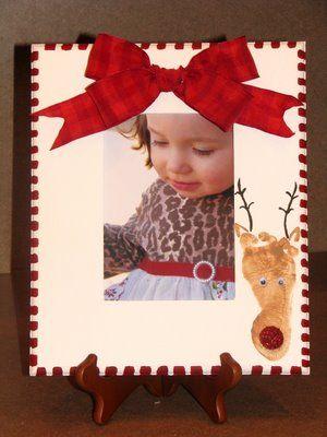Footprint Reindeer Christmas Picture Frame Www