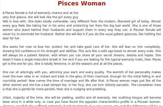 Pisces Personality Traits Female Pisces Woman Horoscope Pisces Pisces Love