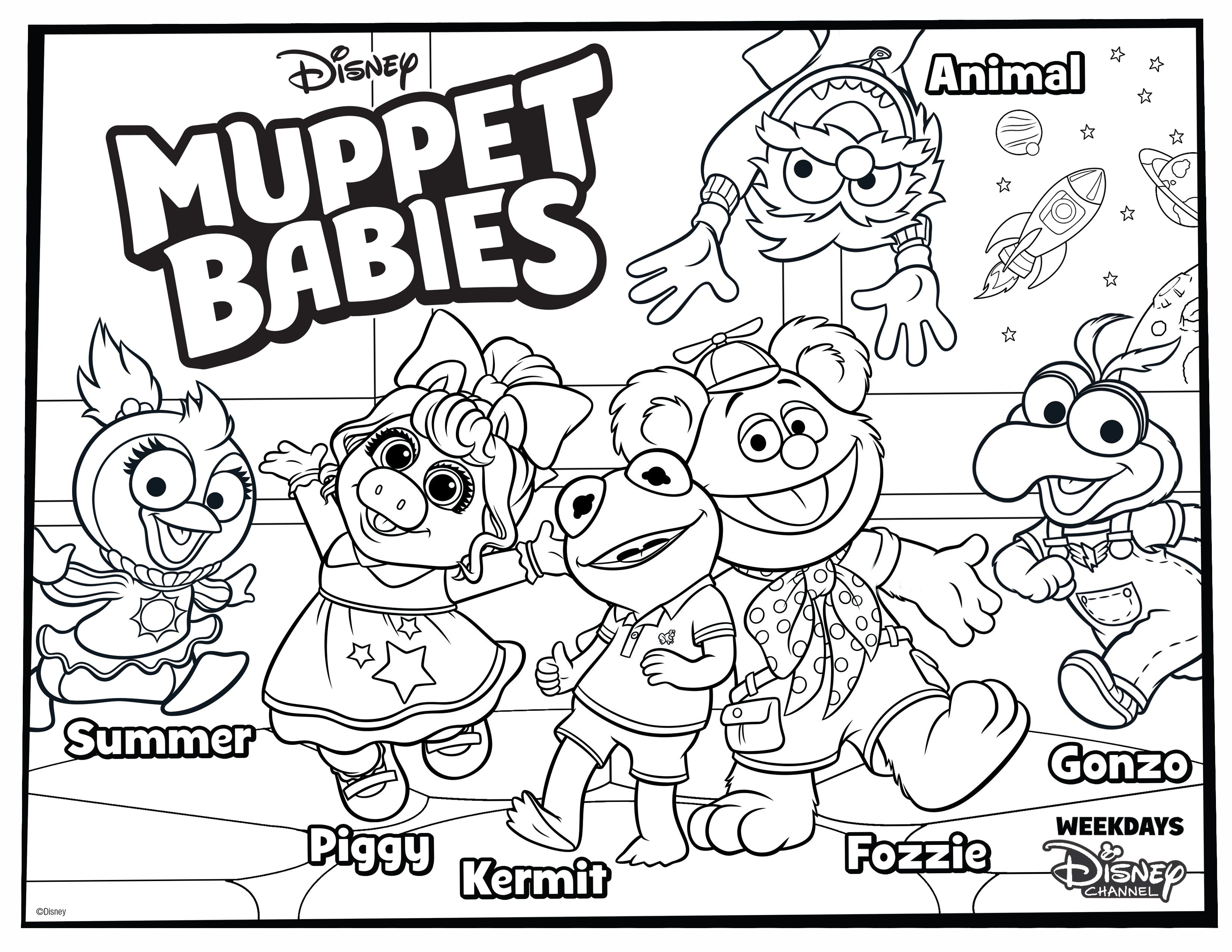 Have Some Family Fun With This Muppet Babies Coloring Page Baby Coloring Pages Muppet Babies Disney Coloring Pages