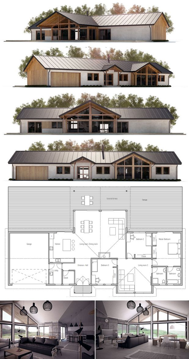 House plan ch295 from modern houses for Concept home com