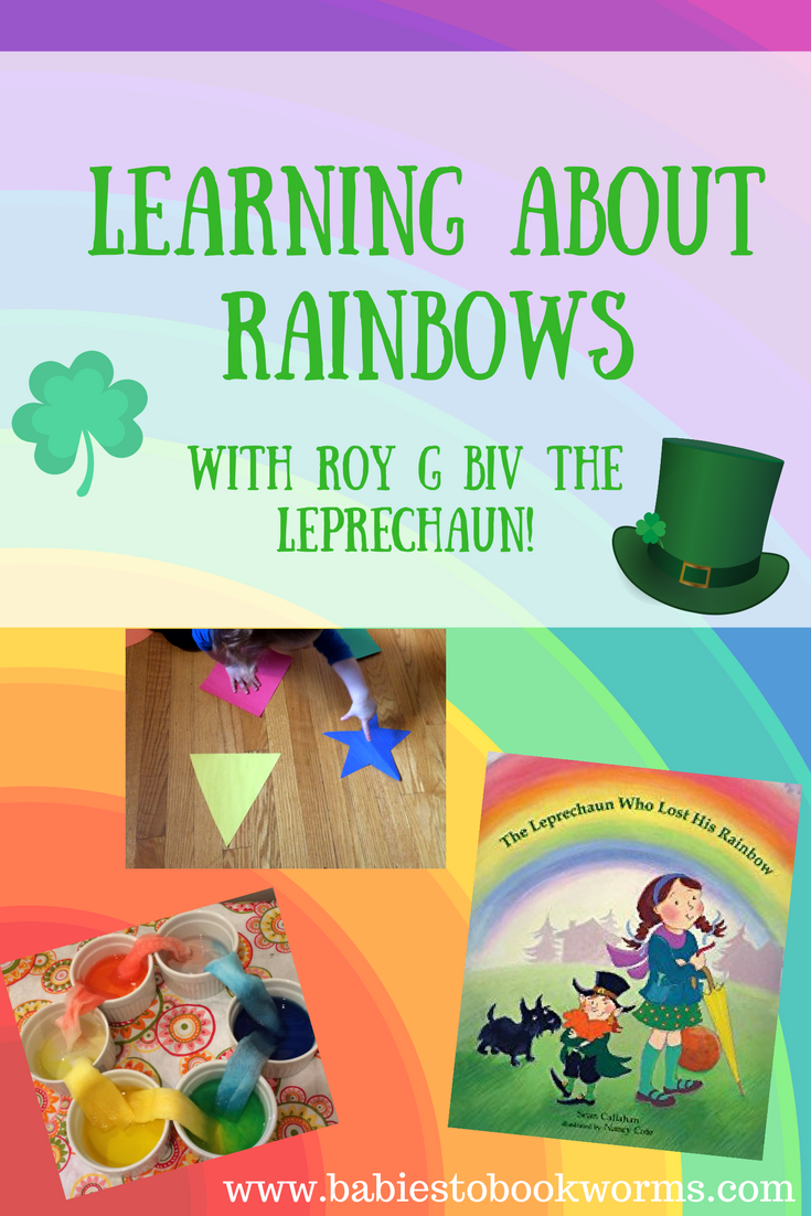Learning About Rainbows with Roy G Biv the Leprechaun! | Gross motor ...