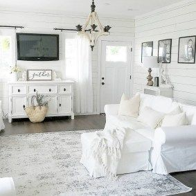 44 Beautiful White Shabby Chic Living Rooms Ideas