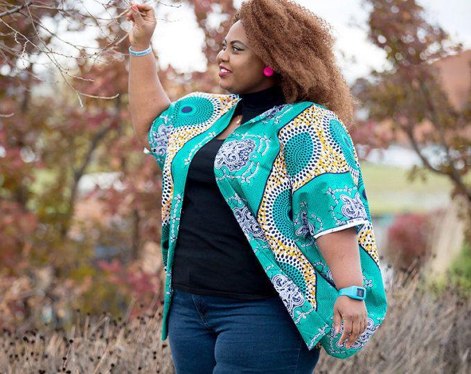 3b399311615 Turquoise Oversized African Kimono African Dress Dashiki Kimono Ankara  Kimono Kitenge Kimono Plus size Orange Cardigan Ankara Plus Size Top