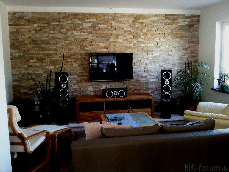 Stein Tapete Wohnzimmer Ideen Wandgestaltung Altbau Mit   Home