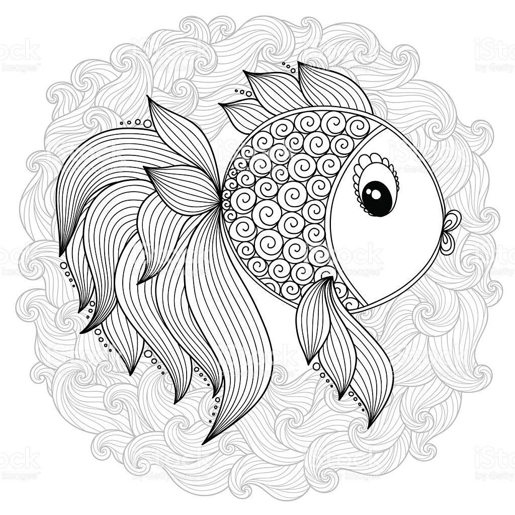 Pattern For Coloring Book Coloring Book Pages For Kids And Fisch Zeichnung Mandala Malvorlagen Fisch Kunst