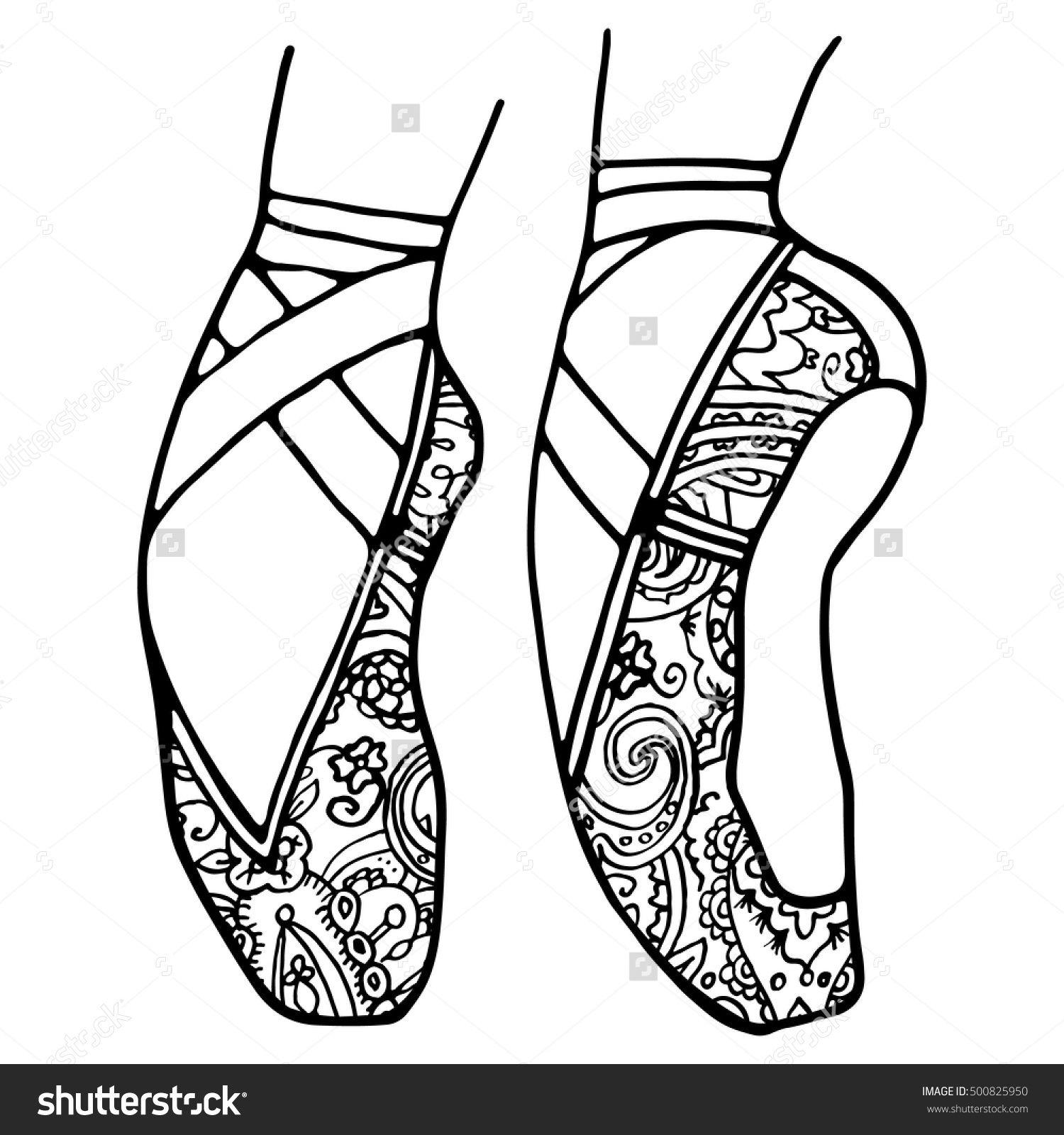 pin barbara op coloring shoe