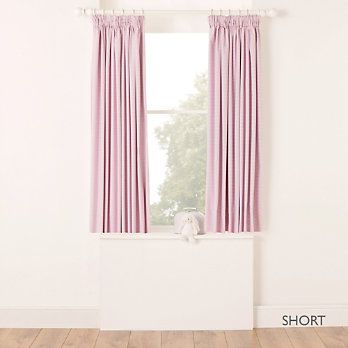 Buy Childrens Bedroom Childrens Bedroom Accessories Pink Gingham Blackout Curtains From Childrens Bedroom Accessories Childrens Bedrooms The White Company