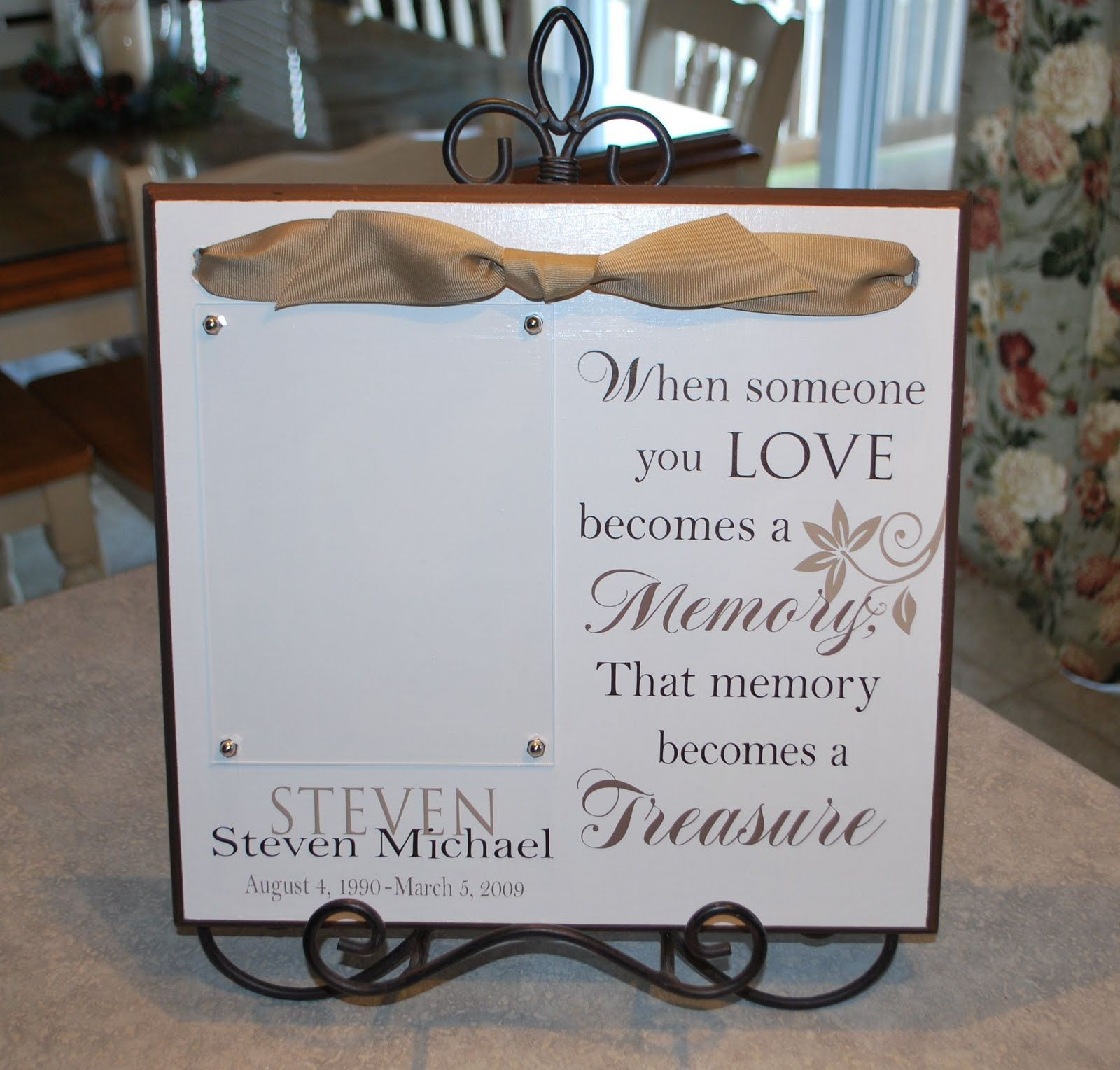 What To Get Someone For A Wedding Gift: Cher's Signs By Design: Memorial Plaque