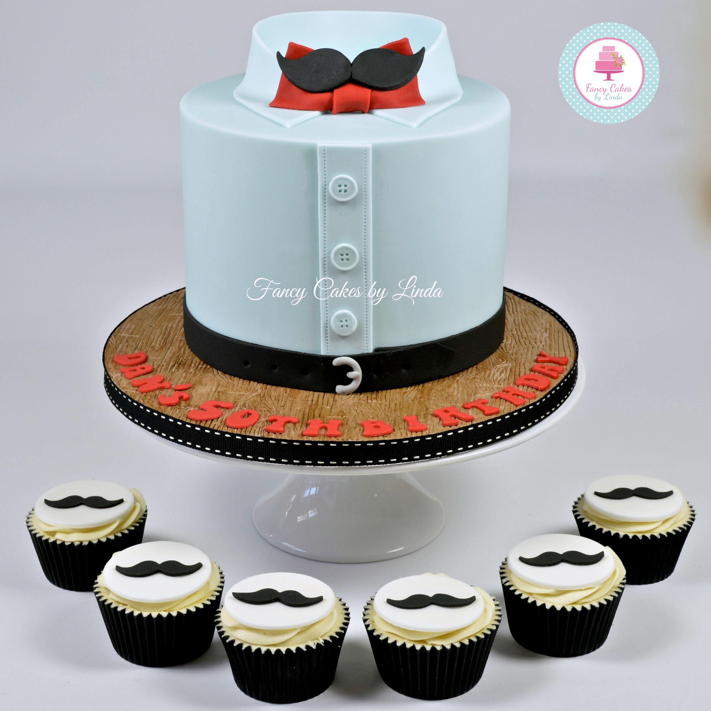 Moustache & Shirt Birthday Cake 07917815712 www.facebook.com/fancycakeslinda www.fancycakesbylinda.co.uk