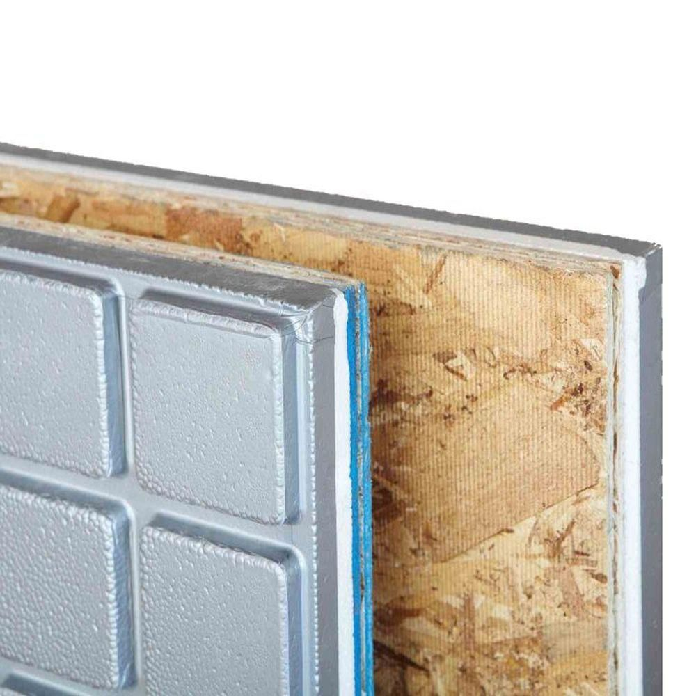 Amdry 1 6 In X 2 Ft X 4 Ft R5 Osb Insulated Subfloor Panel Amd0140g The Home Depot Osb Paneling Home Depot