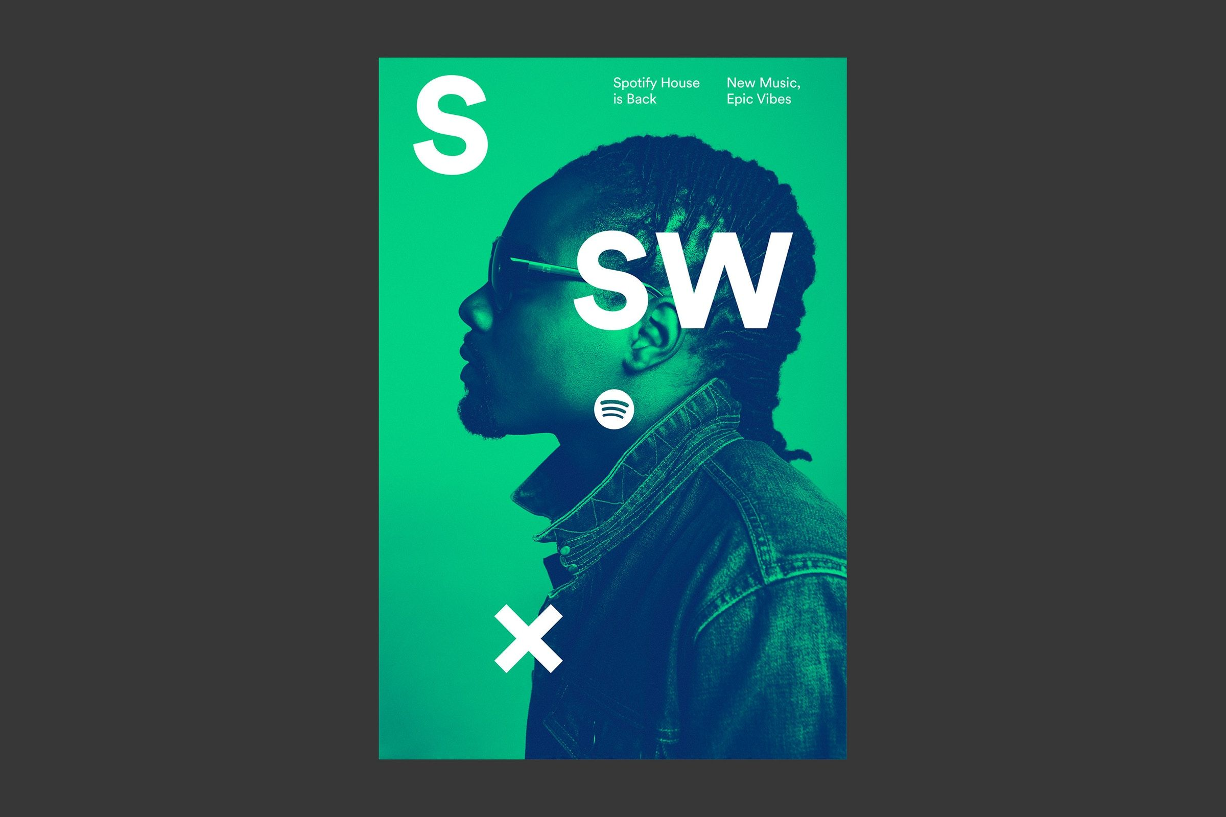 Spotify Sxsw poster, Graphic poster, Spotify design