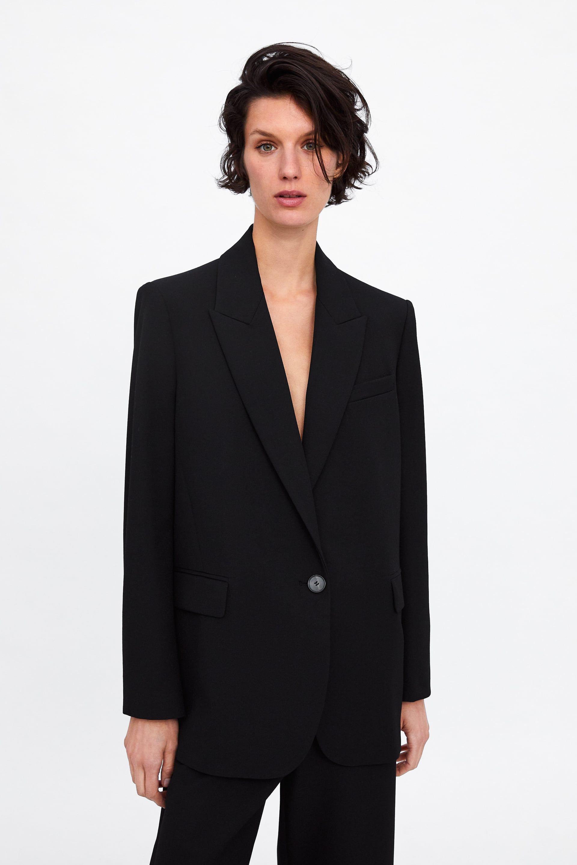 a2dbc1d2c Blazer oversize botón en 2019 | WOMENSWEAR | Blazers mujer, Zara y ...