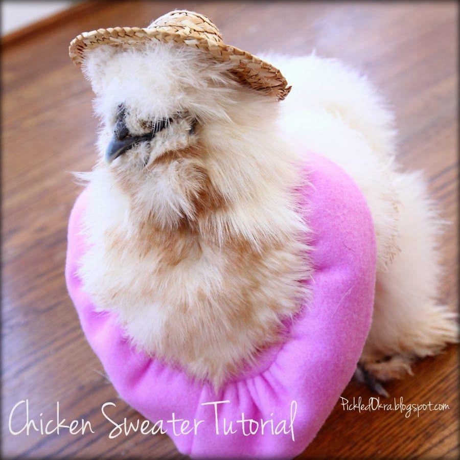 Pickled okra chicken sweater tutorial scrolling