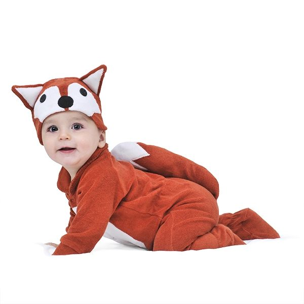 lil fox baby and toddler costume with hat