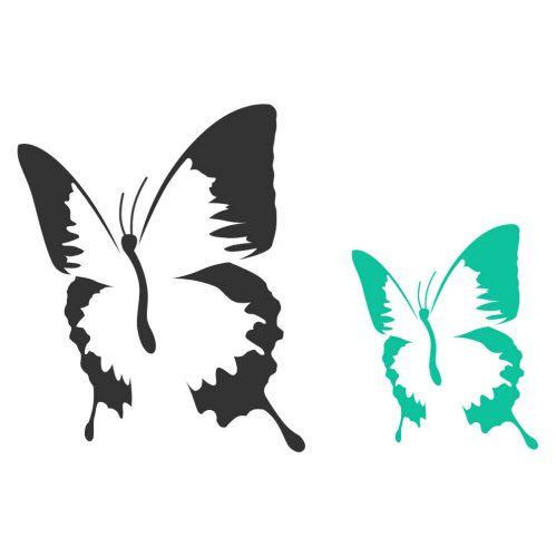 Pochoir imprimer recherche google pochoir stencils silhouette et scan n cut - Silhouette papillon imprimer ...