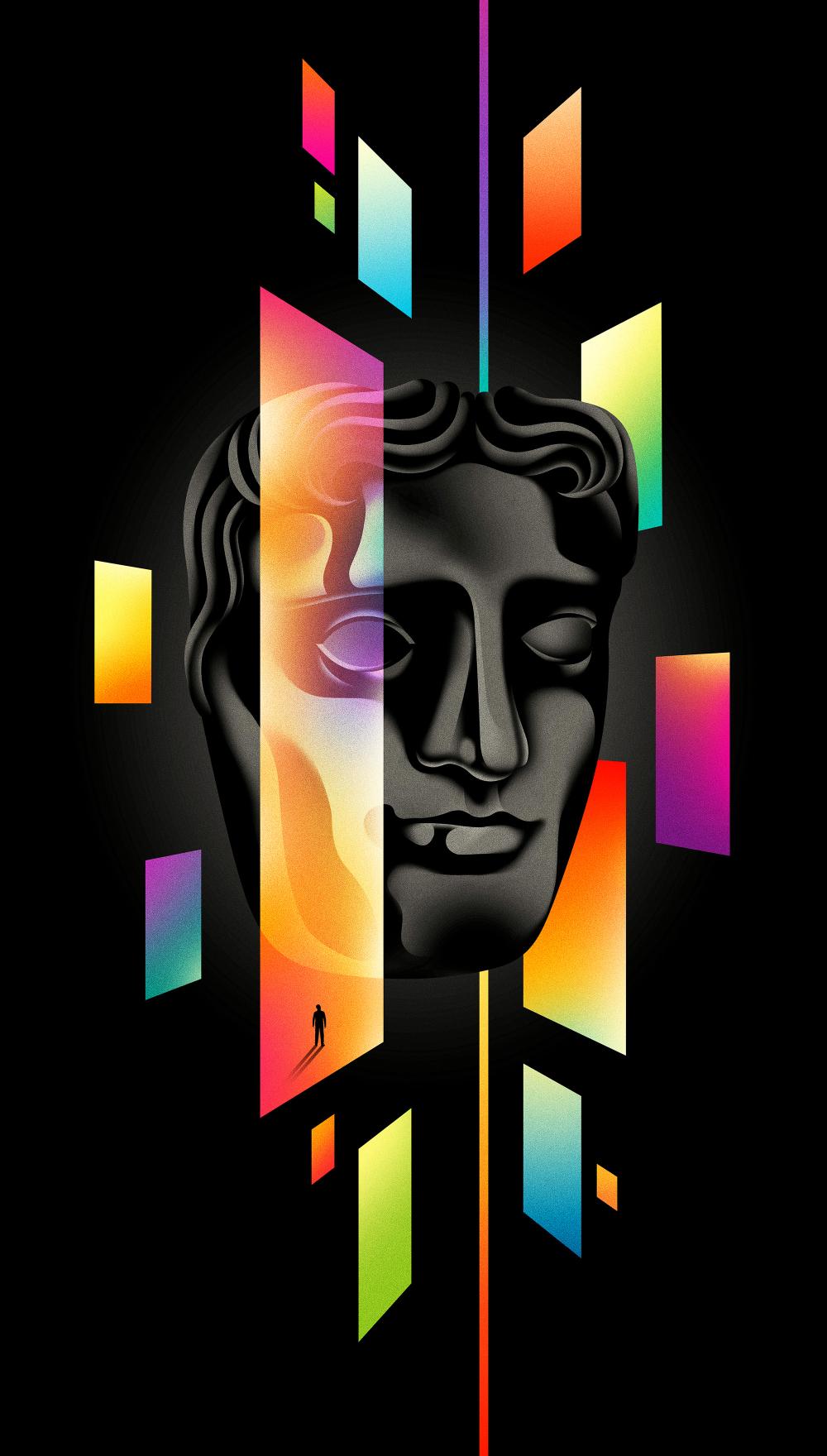 Bafta Television Awards Poster By La Boca Award Poster Graphic Arts Illustration Vintage Graphic Design