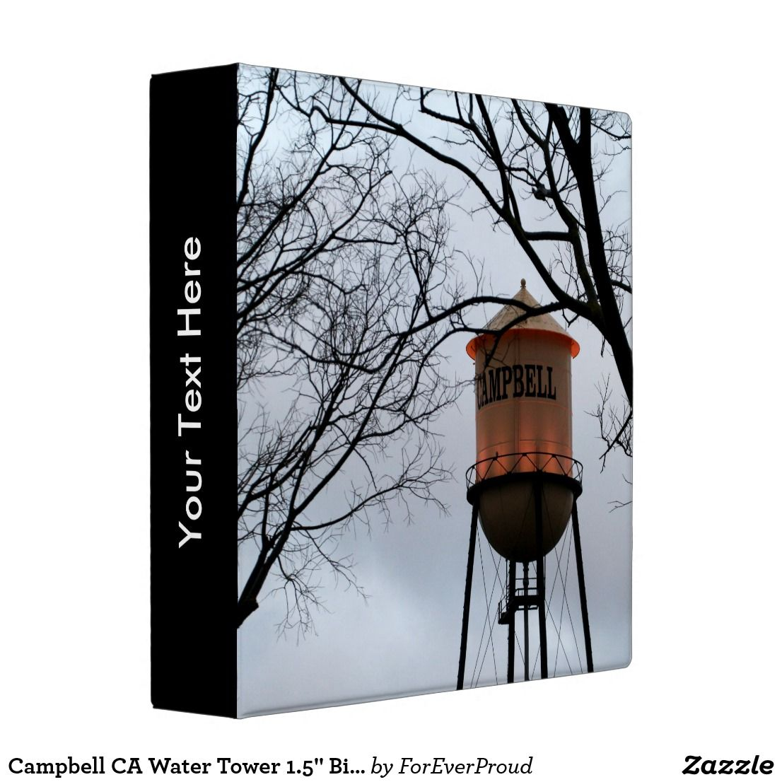 "Campbell CA Water Tower 1.5"" Binder"