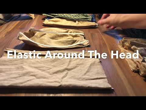 Photo of Making Face Masks with Elastic Around the Head
